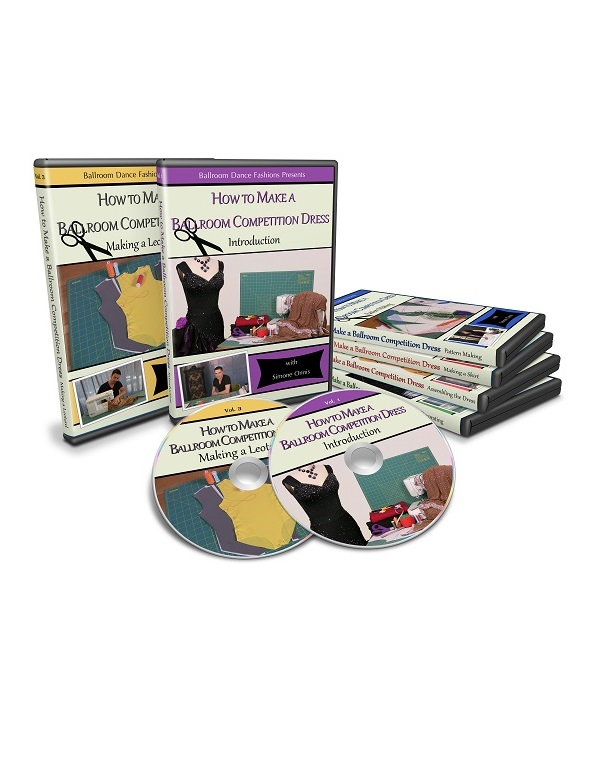 How to Make a Ballroom Competition Dress 6-DVD Collection (PHYSICAL DVDs or Flash Drives)