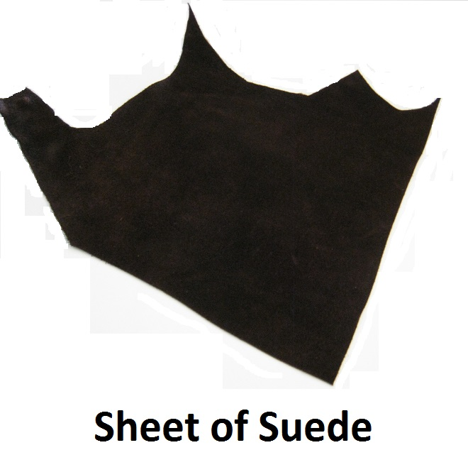 sheet of suede